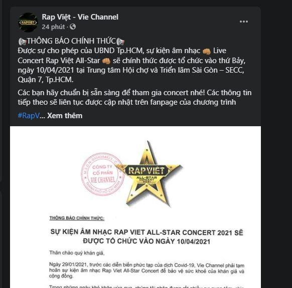 Live Concert Rap Việt All-Star tái ngộ khán giả  - ảnh 1