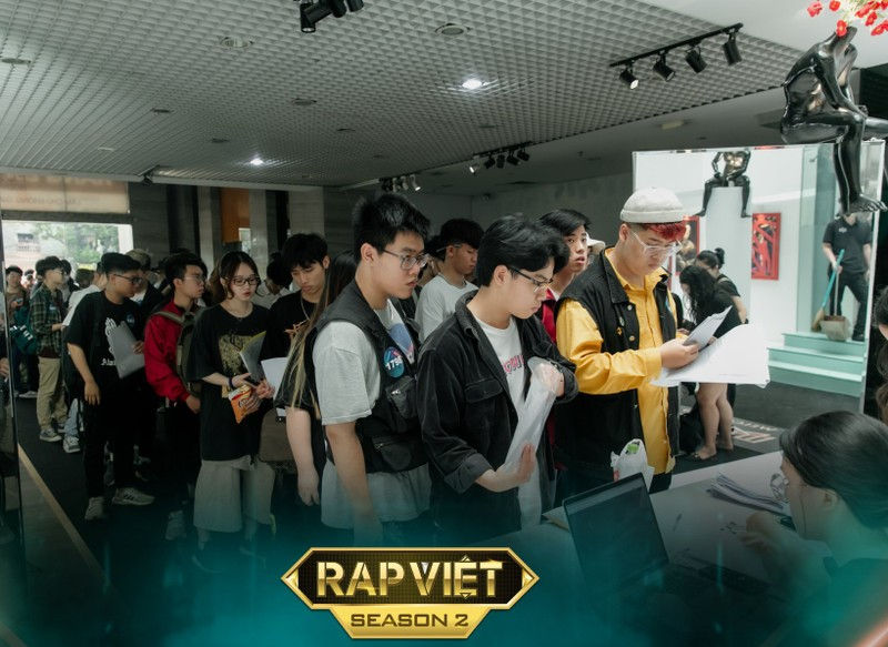 Ngày đầu casting Rap Việt ở miền Bắc thu hút hơn ngàn thí sinh - ảnh 1
