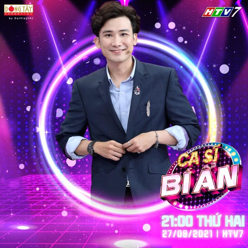 Chế Nguyễn Quỳnh Châu cực xinh đẹp khi ghi hình online 'Ca sĩ bí ẩn' - ảnh 4