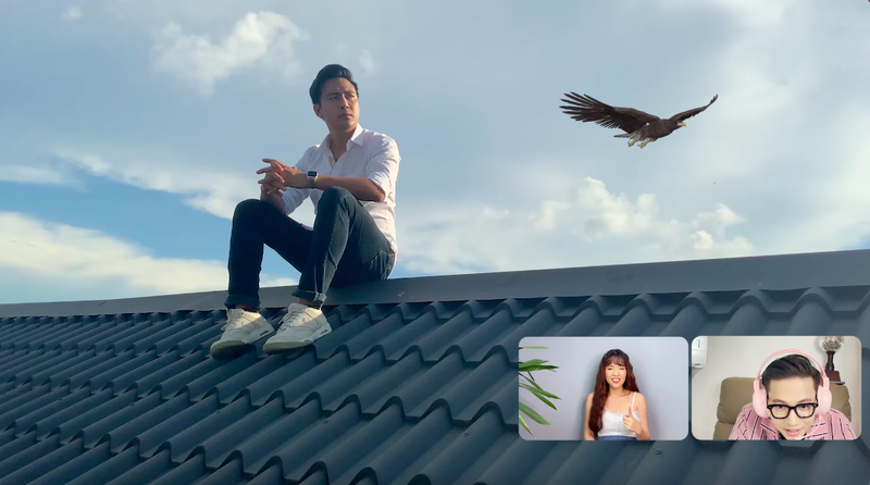Thanh Duy chịu chơi leo lên nóc nhà để quay MV 'Ca sĩ bí ẩn' - ảnh 2
