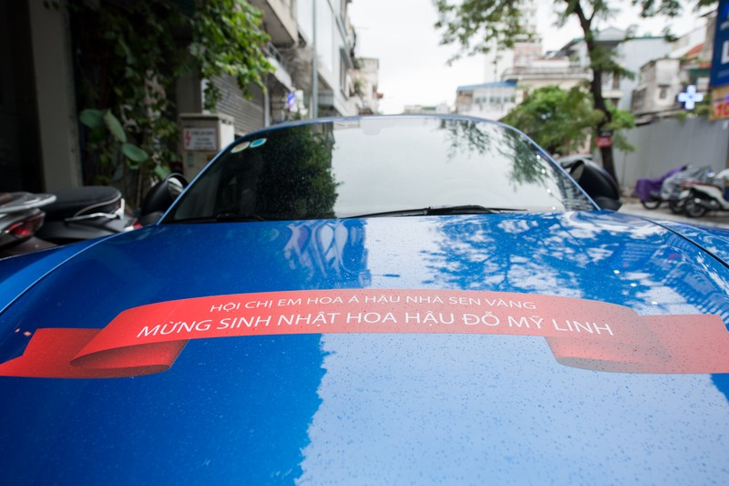 Sinh nhật ngập hoa được chở bằng siêu xe của Hoa hậu Đỗ Mỹ Linh - ảnh 4