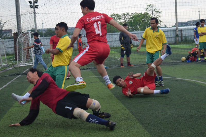 màn tranh tài bóng đá của Cảnh sát