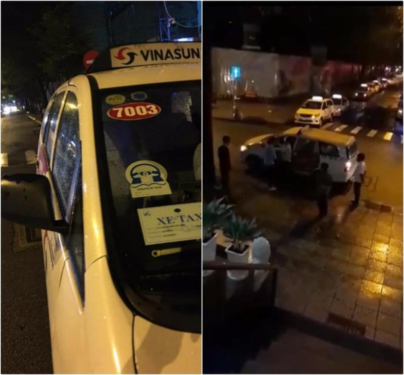 Công an làm việc với tài xế taxi đánh du khách - ảnh 1