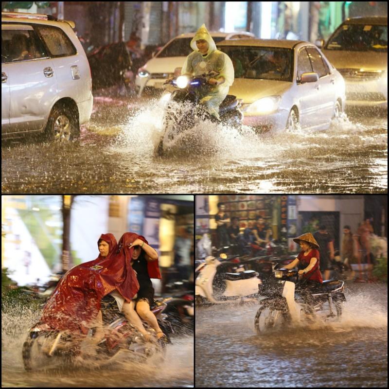 Chùm ảnh: Đường Sài Gòn ngập sau cơn mưa lớn - ảnh 7