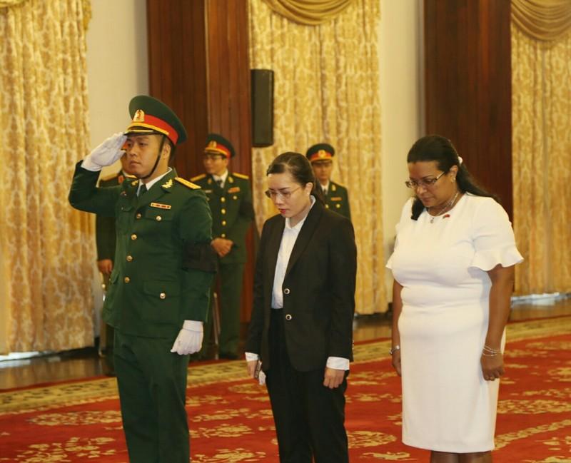 Nhiều đoàn ngoại giao đến viếng Chủ tịch nước tại TP.HCM - ảnh 3