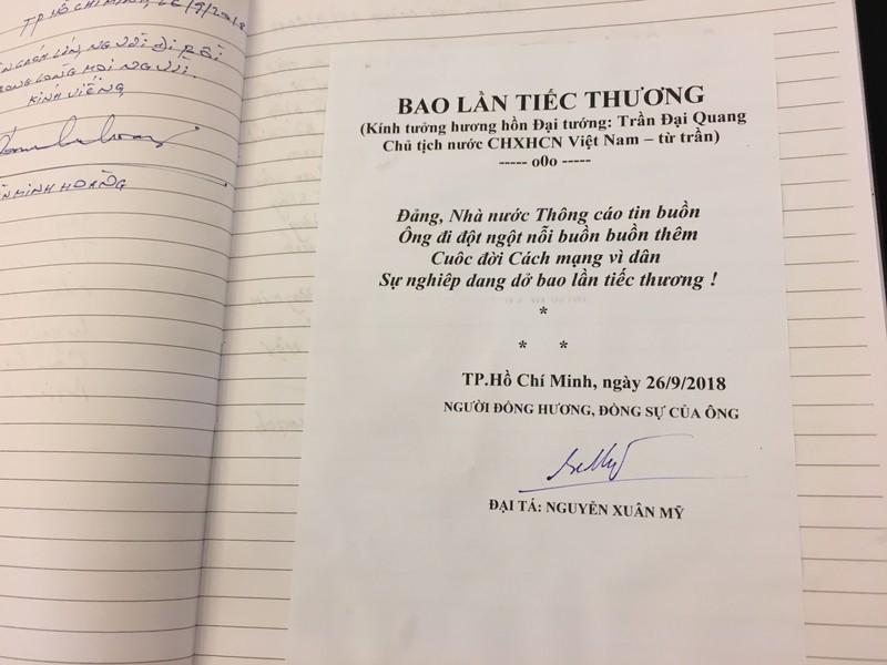 Xúc động những lời viếng Chủ tịch nước Trần Đại Quang - ảnh 5