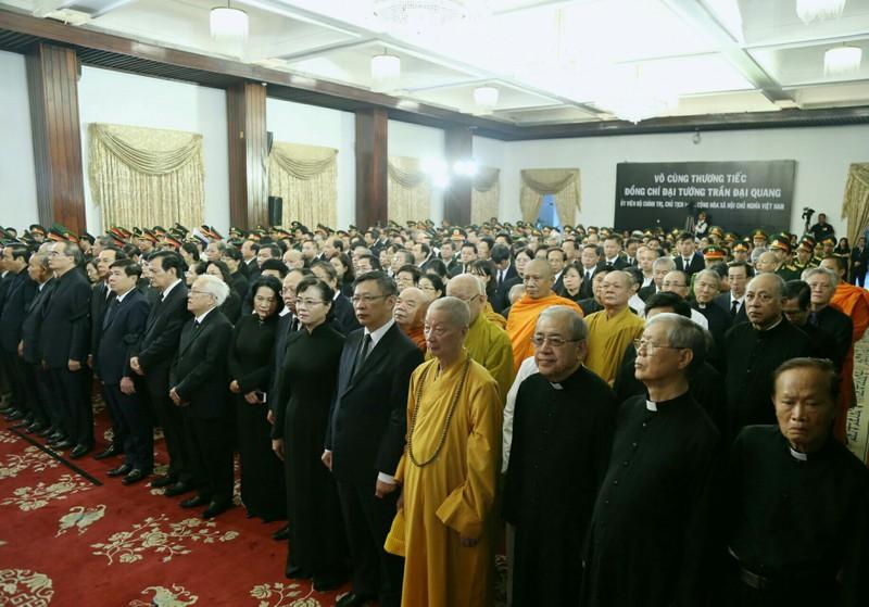 Xúc động hình ảnh lễ truy điệu Chủ tịch nước tại TP.HCM - ảnh 1