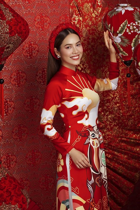 Dàn người đẹp Hoa hậu Hoàn vũ rạng ngời trong bộ ảnh Tết - ảnh 4