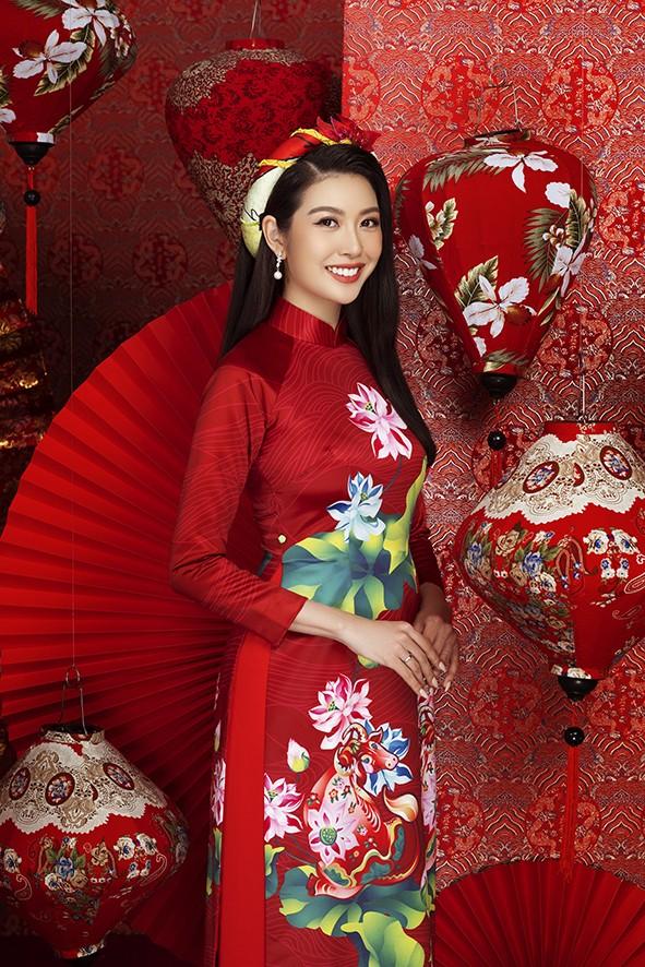Dàn người đẹp Hoa hậu Hoàn vũ rạng ngời trong bộ ảnh Tết - ảnh 6