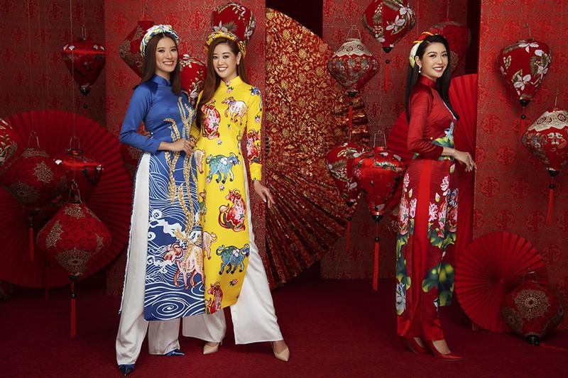 Dàn người đẹp Hoa hậu Hoàn vũ rạng ngời trong bộ ảnh Tết - ảnh 3