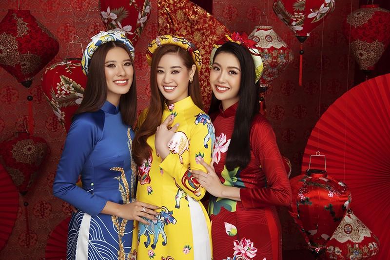 Dàn người đẹp Hoa hậu Hoàn vũ rạng ngời trong bộ ảnh Tết - ảnh 5
