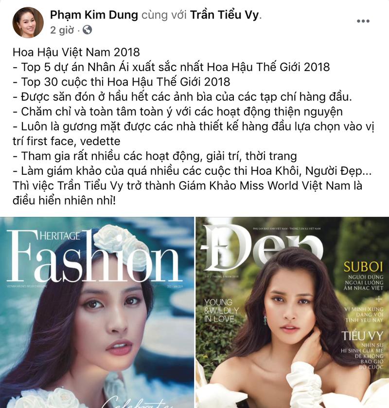 'Trần Tiểu Vy làm giám khảo Miss World Vietnam là hiển nhiên' - ảnh 2