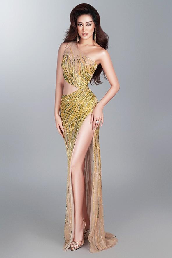 Hoa hậu Khánh Vân nóng bỏng với đầm dạ hội quyến rũ - ảnh 5