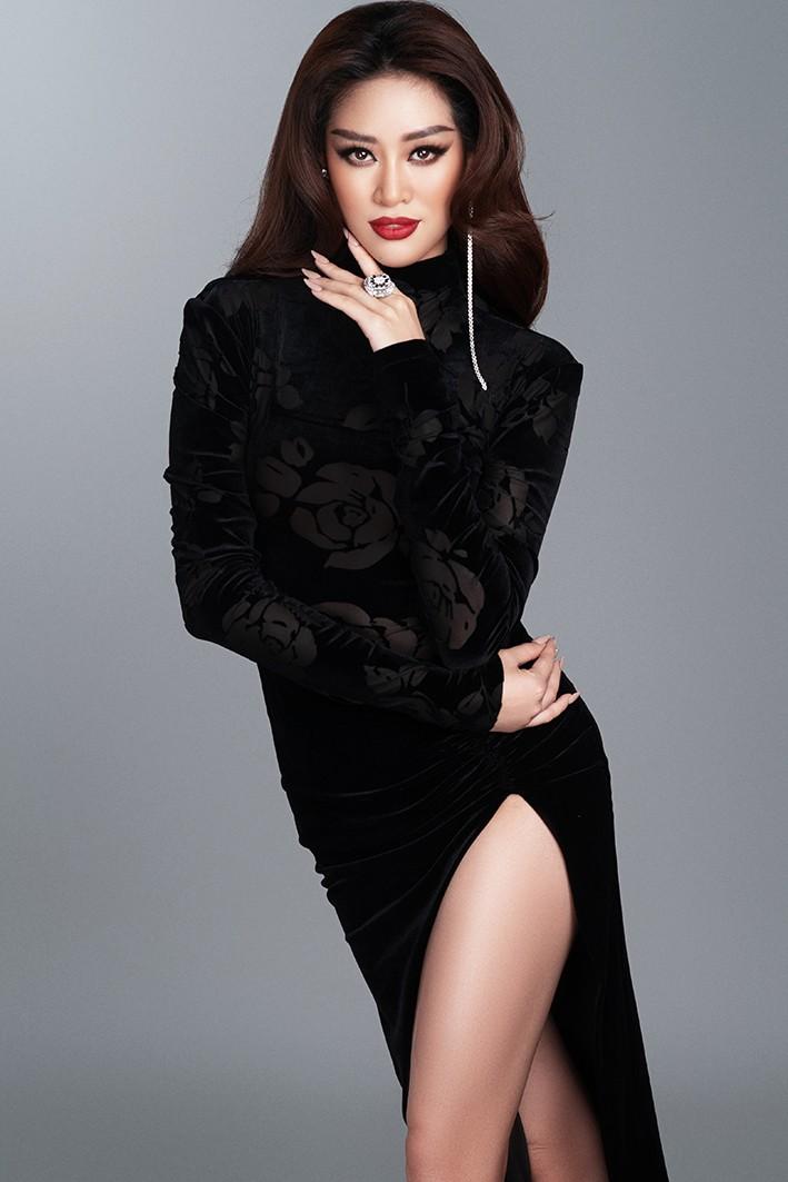 Hoa hậu Khánh Vân nóng bỏng với đầm dạ hội quyến rũ - ảnh 2