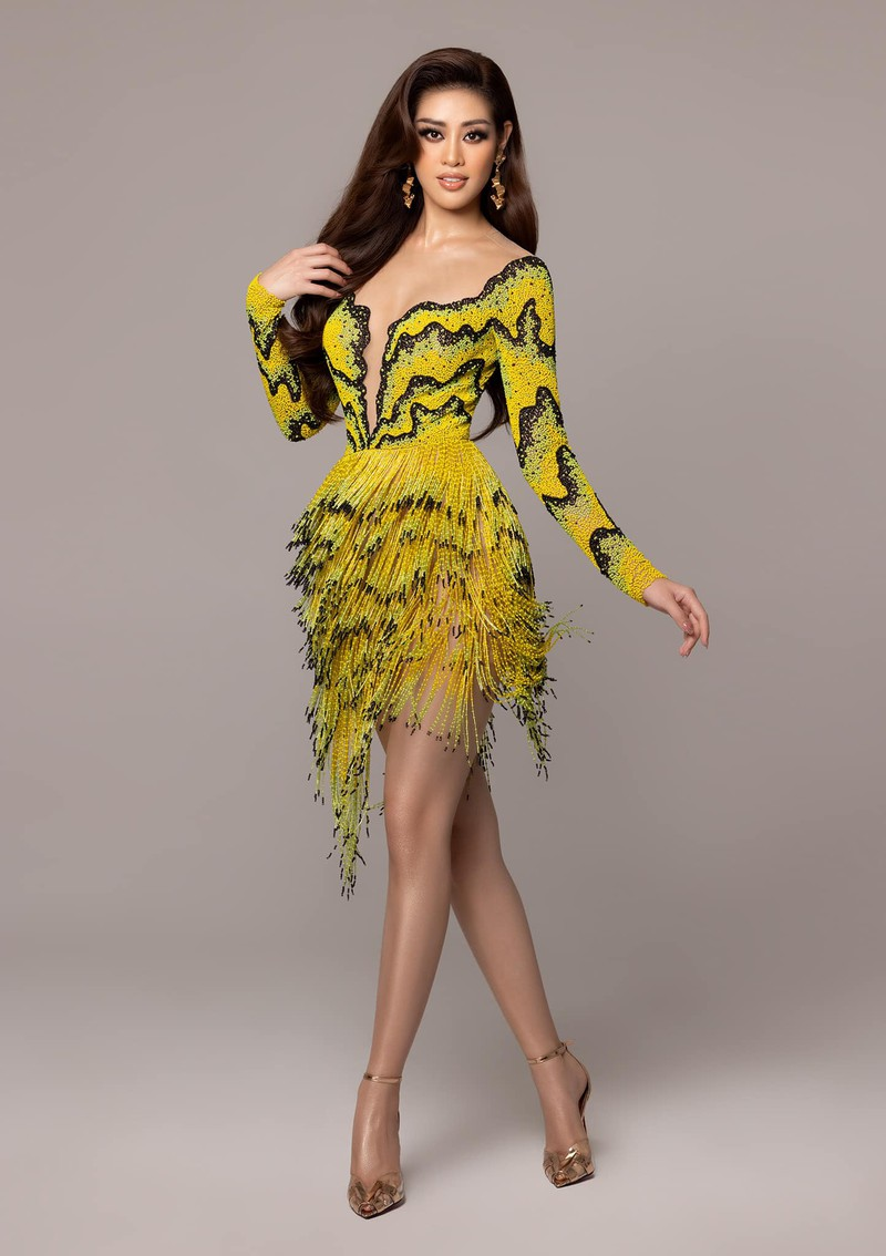 Hoa hậu Khánh Vân mặc váy 'ruộng bậc thang' trên đất Mỹ - ảnh 5