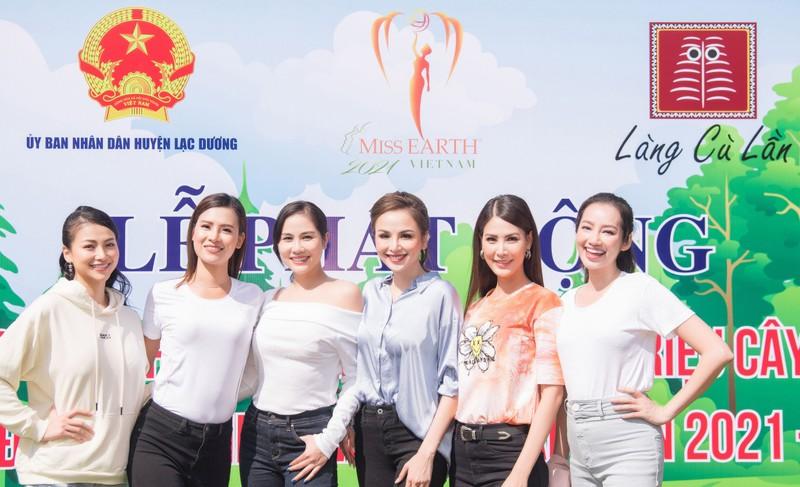Dàn mỹ nhân Miss Earth Việt Nam trang phục giản đi trồng cây - ảnh 7