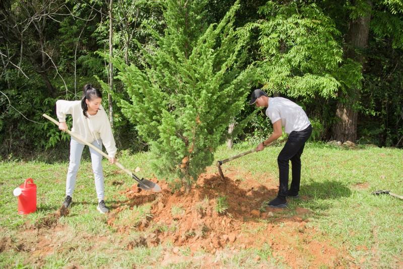 Dàn mỹ nhân Miss Earth Việt Nam trang phục giản đi trồng cây - ảnh 8