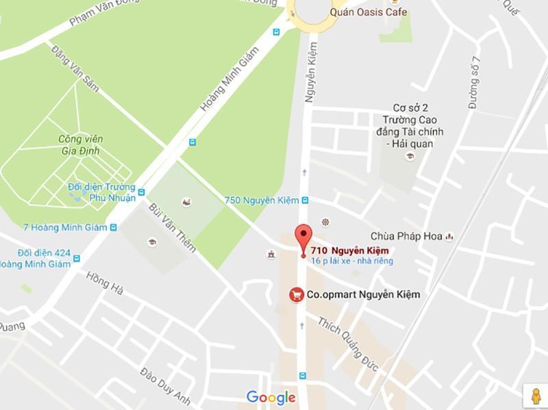Vị trí tai nạn xảy ra trên đường Nguyễn Kiệm.