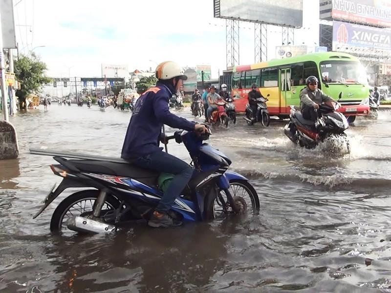 Quốc lộ 1A ngập chìm sau cơn mưa lúc sáng sớm - ảnh 5