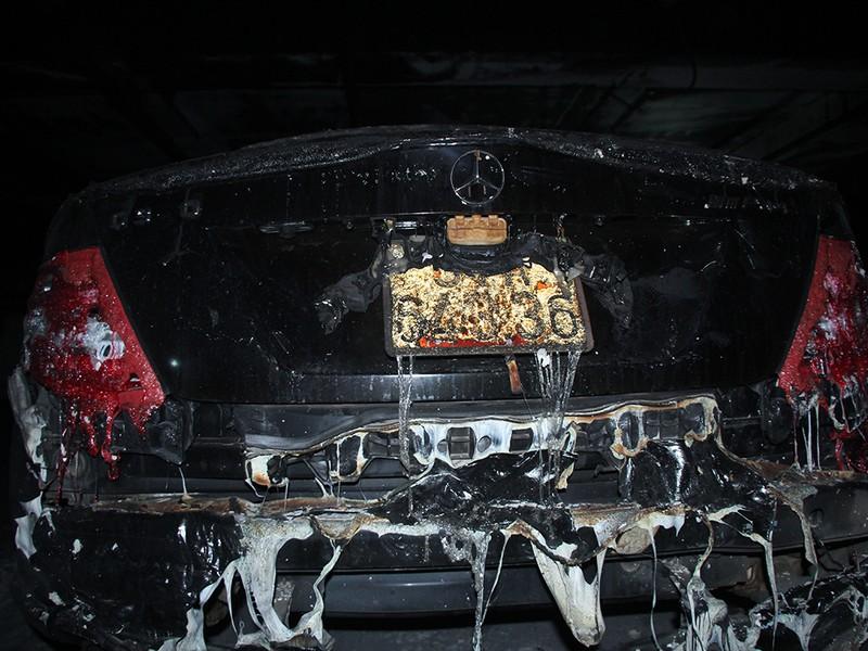 Cận cảnh những xe cháy trong hầm chung cư Carina Plaza - ảnh 6