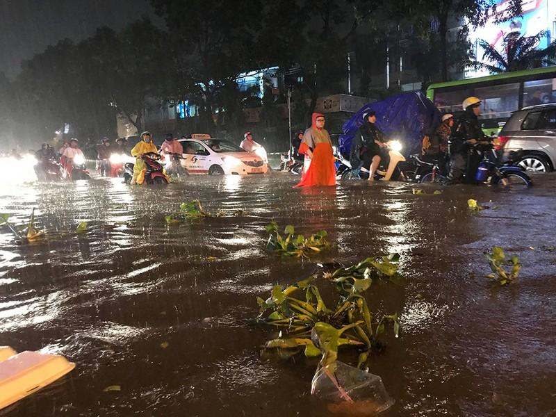Toàn cảnh ngập của TP.HCM trong trận mưa kinh hoàng ngày 25-11 - ảnh 12