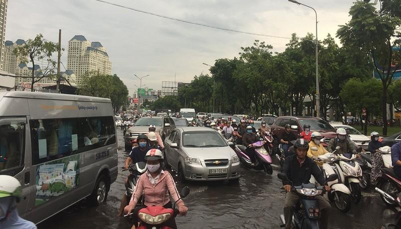 'Rốn ngập' Nguyễn Hữu Cảnh thành biển nước trong mưa lớn - ảnh 11