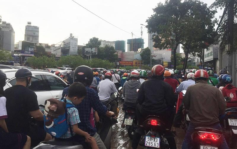 'Rốn ngập' Nguyễn Hữu Cảnh thành biển nước trong mưa lớn - ảnh 10