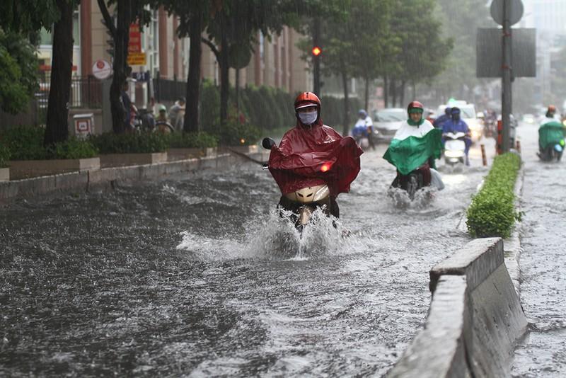 'Rốn ngập' Nguyễn Hữu Cảnh thành biển nước trong mưa lớn - ảnh 1