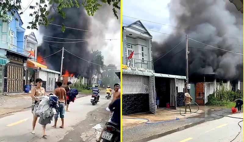 Cháy lớn sau tiếng nổ, dân lấy xô chậu múc nước dập - ảnh 1