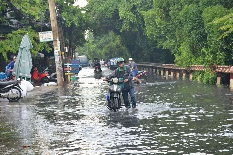 TP.HCM mưa lớn, đường lại biến thành sông - ảnh 3