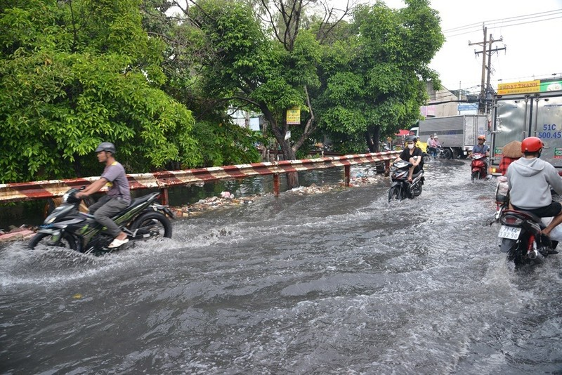 TP.HCM mưa lớn, đường lại biến thành sông - ảnh 5
