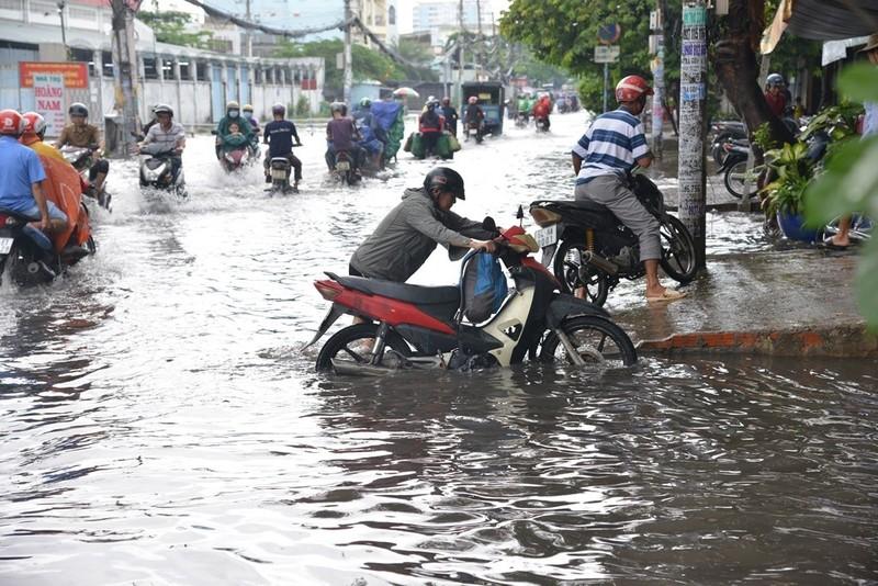 TP.HCM mưa lớn, đường lại biến thành sông - ảnh 8