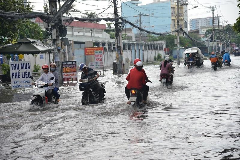 TP.HCM mưa lớn, đường lại biến thành sông - ảnh 6