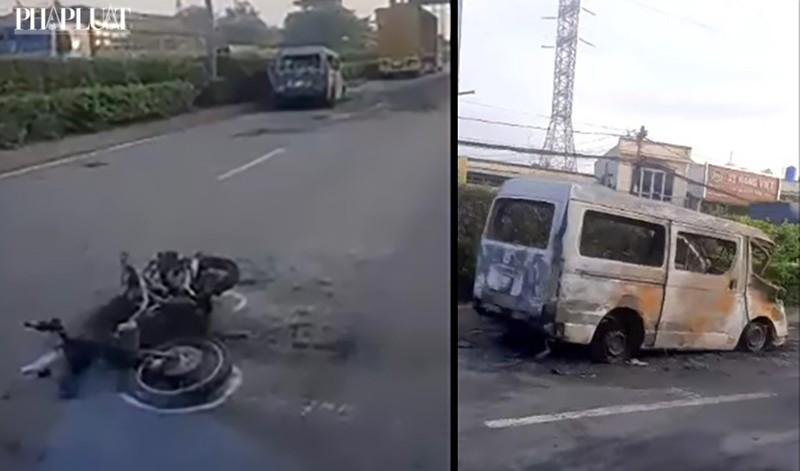 Nguyên nhân bất ngờ vụ cháy ô tô, xe máy gần cầu Tân Thới Hiệp - ảnh 1