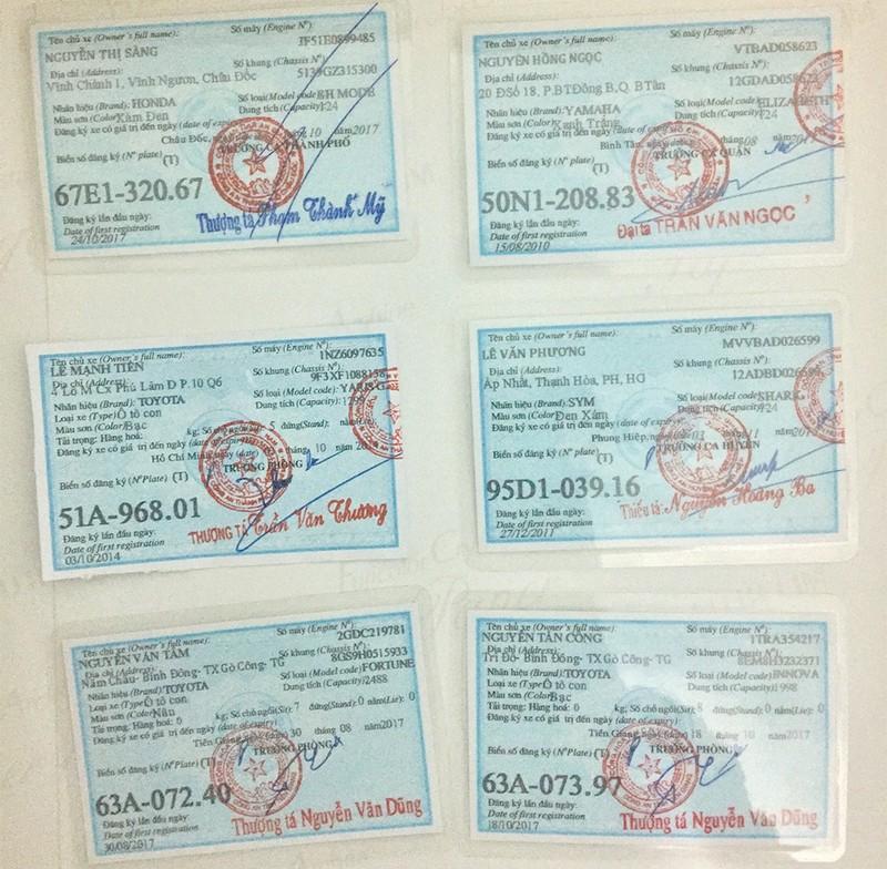 Giả con dấu, chữ ký của nhiều giám đốc công an để bán xe gian - ảnh 6