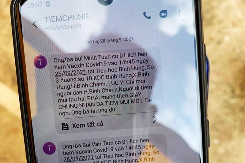 11 người tạo tin nhắn giả để được tiêm vaccine COVID-19 - ảnh 2
