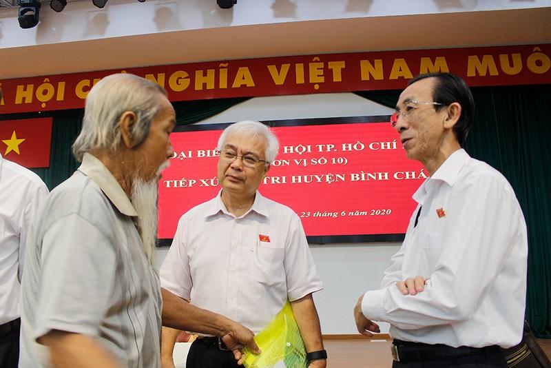 ĐBQH thông tin với cử tri huyện Bình Chánh về dự án Sing Việt - ảnh 1