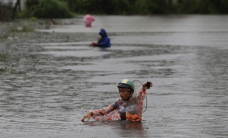 Quảng Nam: Người dân đội mưa bắt cá trong lũ - ảnh 3