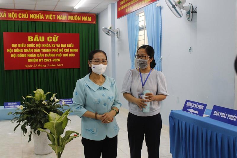Bà Nguyễn Thị Lệ: 'Cần đề cao cảnh giác dịch trong bầu cử' - ảnh 3