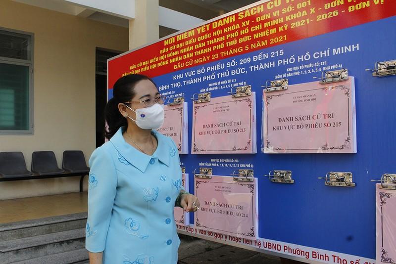 Bà Nguyễn Thị Lệ: 'Cần đề cao cảnh giác dịch trong bầu cử' - ảnh 1
