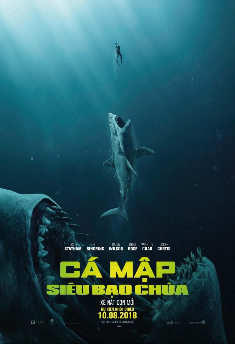 Jason Statham trở lại trong The Meg, đối mặt quái thú khổng lồ - ảnh 1