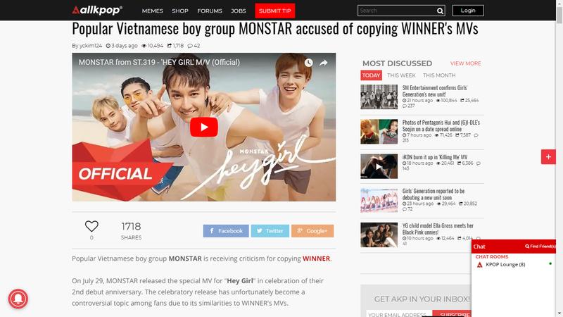 Monstar bị truyền thông K-pop tố đạo nhạc trong MV mới - ảnh 1