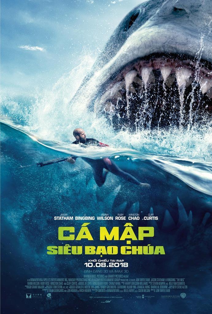 Jason Statham đối đầu cá mập siêu bạo chúa - ảnh 1