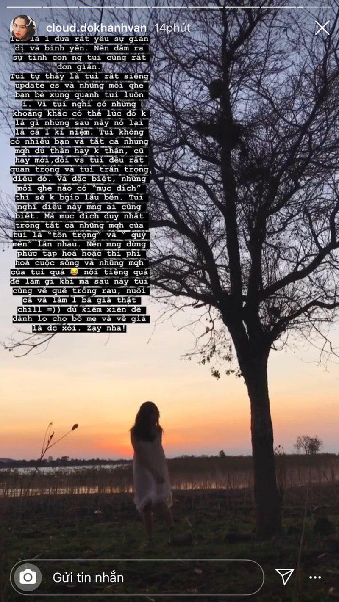 Khánh Vân 'Mắt Biếc' chia sẻ tâm thư làm rõ tin đồn về Jack  - ảnh 2