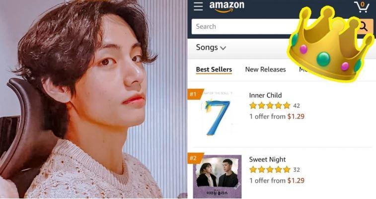 V (BTS) làm nên lịch sử khi có 3 vị trí đầu bảng trên Amazon - ảnh 1
