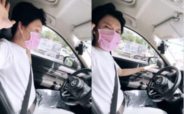Quang Trung buông tay khi lái xe gây tranh cãi - ảnh 1