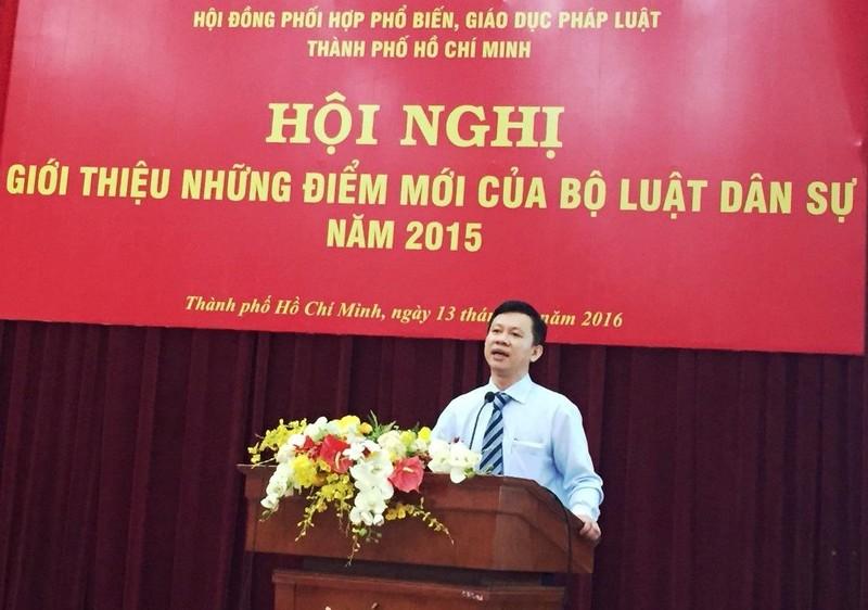 TS Lê Minh Hùng- Báo cáo viên tại Hội nghị