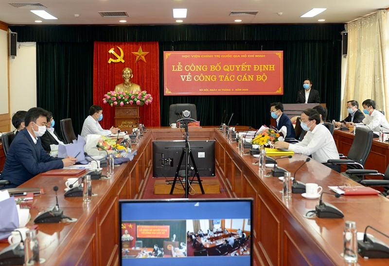 Nhân sự mới Học viện Chính trị quốc gia Hồ Chí Minh - ảnh 1