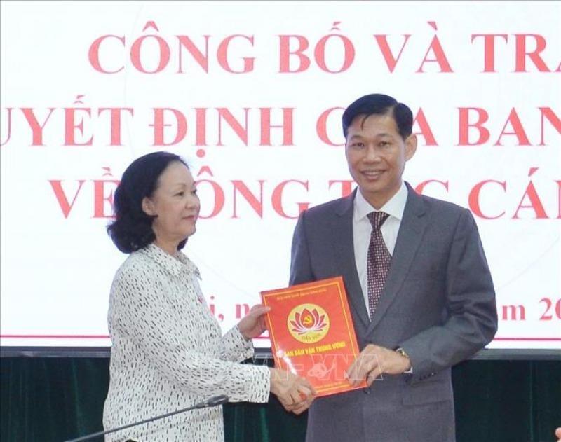 Ban Bí thư Trung ương Đảng bổ nhiệm nhân sự mới - ảnh 1