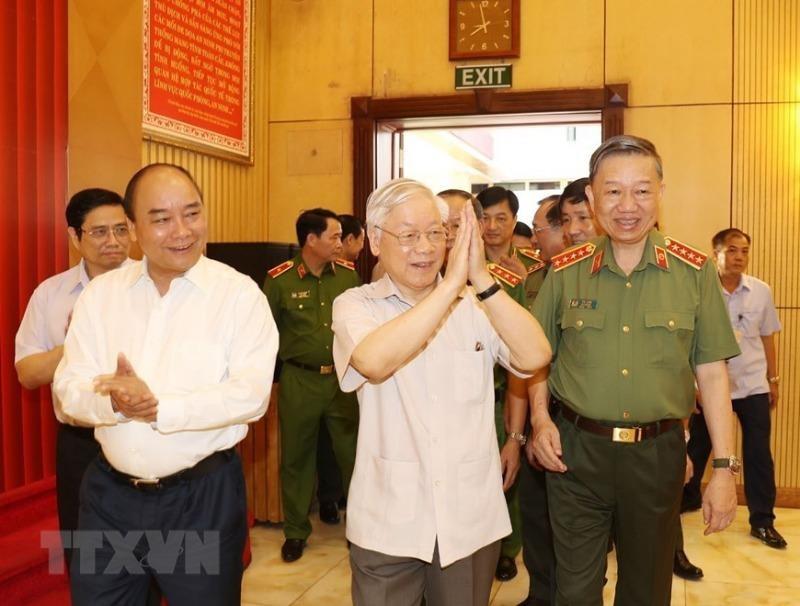 Tổng Bí thư, Chủ tịch nước dự hội nghị Đảng uỷ Công an TW - ảnh 1